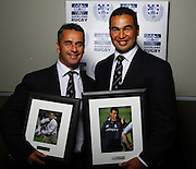 Departing Auckland coaches Shane Howarth and Pat Lam.<br />Auckland Rugby Awards Evening, Sky City Convention Centre, Auckland, Friday 31 October 2008. Photo: Renee McKay/PHOTOSPORT