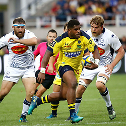 Apisai Naqalevu of Clermont during Top 14 match between Clermont and Agen on August 25, 2018 in Perpignan, France. (Photo by Romain Biard/Icon Sport)