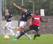 Dundee's Jake Hyde and Southend United's Anthony Grant - Dundee v Southend United - East Fife Tournament at New Bayview<br /> <br /> &copy; David Young<br /> <br /> <br /> http://www.davidyoungphoto.co.uk