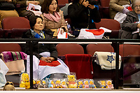 KELOWNA, BC - OCTOBER 25: Fans during Skate Canada International  at Prospera Place on October 25, 2019 in Kelowna, Canada. (Photo by Marissa Baecker/Shoot the Breeze)