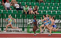 Sabina Veit, Merlene Ottey, Kristina Zumer, Pia Tajnikar, Sara Strajnar and Tina Murn during women 100m finals at Slovenian National Championships in athletics 2010, on July 17, 2010 in Velenje, Slovenia. (Photo by Vid Ponikvar / Sportida)