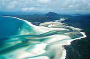 Helicopter flight over Whitsunday Island.
