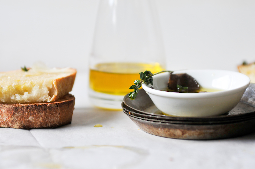 Black Truffles, Bread and Extra Virgin Olive Oil