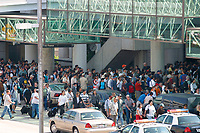 Jul 04, 2002; Los Angeles, CA, USA; International travelers return to the ticket counters at Los Angeles International airport in the Tom Bradley International terminal. <br />