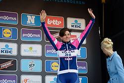 Maria Giulia Confalonieri takes to the stage at Omloop het Nieuwsblad - Elite Women - 2018 - a 122 km road race on February 24, 2018, from Gent to Ninove, Belgium. (Photo by Sean Robinson/Velofocus.com)
