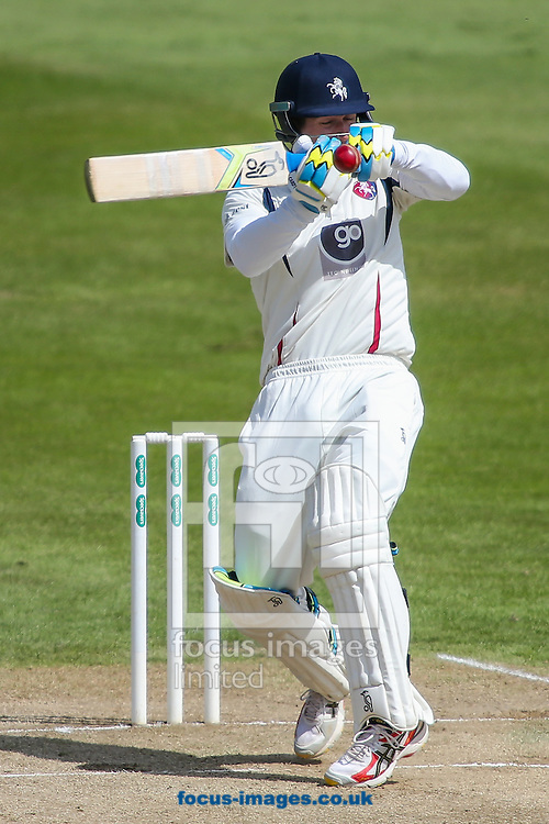 Joe Denly of Kent ducks under a high delivery during the Specsavers County C'ship Div Two match at the County Ground, Northampton<br /> Picture by Andy Kearns/Focus Images Ltd 0781 864 4264<br /> 16/05/2016