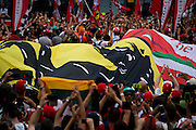 September 4, 2016: Ferrari flag under the podium at Monza , Italian Grand Prix at Monza