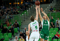 Marko Josilo of Krka during basketball match between KK Petrol Olimpija and KK Krka in Round #6 of Liga Nova KBM za prvaka 2018/19, on April 5, 2019, in Arena Stozice, Ljubljana, Slovenia. Photo by Vid Ponikvar / Sportida