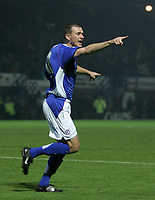 Photo: Paul Thomas.<br /> Chesterfield Town v Charlton Athletic. Carling Cup. 07/11/2006.<br /> <br /> Colin Larkin of Chesterfield celebrates his goal.