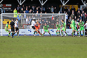 Bromley's Jack Holland scores an equaliser in added time for his team during the Vanarama National League match between Bromley FC and Forest Green Rovers at Hayes Lane, Bromley, United Kingdom on 28 March 2016. Photo by Shane Healey.