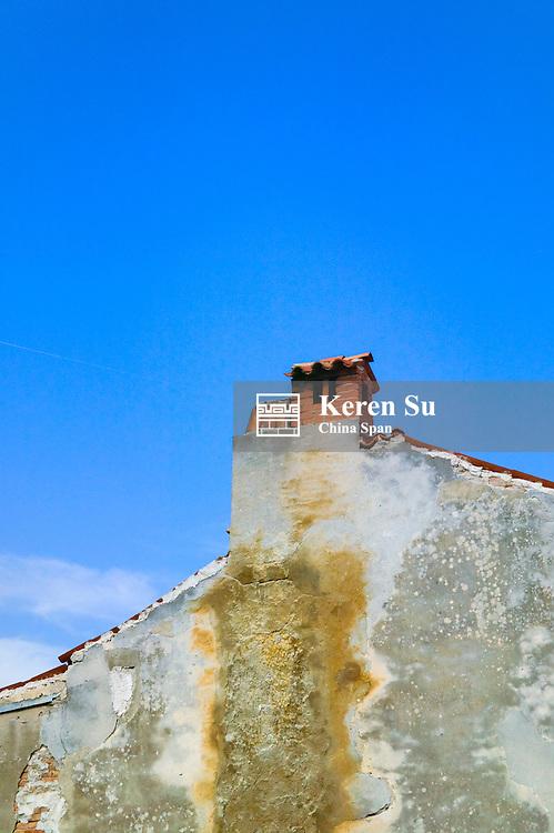 Chimney on house, Pula, Istria, Croatia