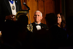 CAPTION CORRECTION © Licensed to London News Pictures. 05/09/2019. London, UK. US Vice President Mike Pence makes a speech at the International Trade Dinner at Guildhall. Photo credit: Ray Tang/LNP