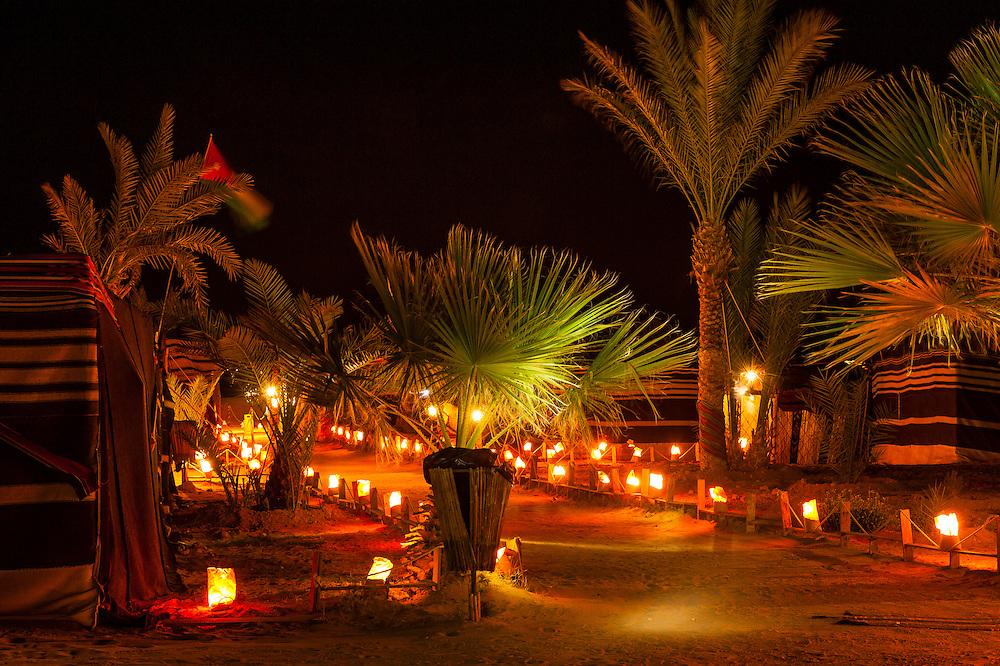 Captain's Desert Camp in the Arabian Desert at Wadi Rum, Jordan.
