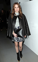 Rosie Fortescue at the Daks show at London Fashion Week for Autumn/Winter 2014, Friday, 14th February 2014. Picture by Stephen Lock / i-Images