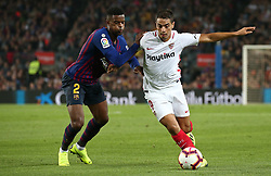 October 20, 2018 - Barcelona, Catalonia, Spain - Ben Yedder and Nelson Semedo during the match between FC Barcelona and Sevilla CF, corresponding to the week 9 of the Liga Santander, played at the Camp Nou, on 20th October 2018, in Barcelona, Spain. (Credit Image: © Joan Valls/NurPhoto via ZUMA Press)