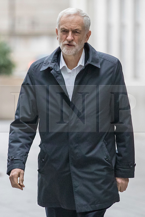 © Licensed to London News Pictures. 13/01/2019. London, UK. Labour Party Leader Jeremy Corbyn arrives at BBC Broadcasting House to appear on The Andrew Marr Show. Photo credit: Rob Pinney/LNP