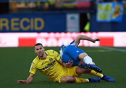 February 3, 2019 - Villarreal, Castellon, Spain - Alfonso Pedraza of Villarreal and Rosales of RCD Espanyol during the La Liga match between Villarreal and Espanyol at Estadio de la Ceramica on February 3, 2019 in Vila-real, Spain. (Credit Image: © Maria Jose Segovia/NurPhoto via ZUMA Press)