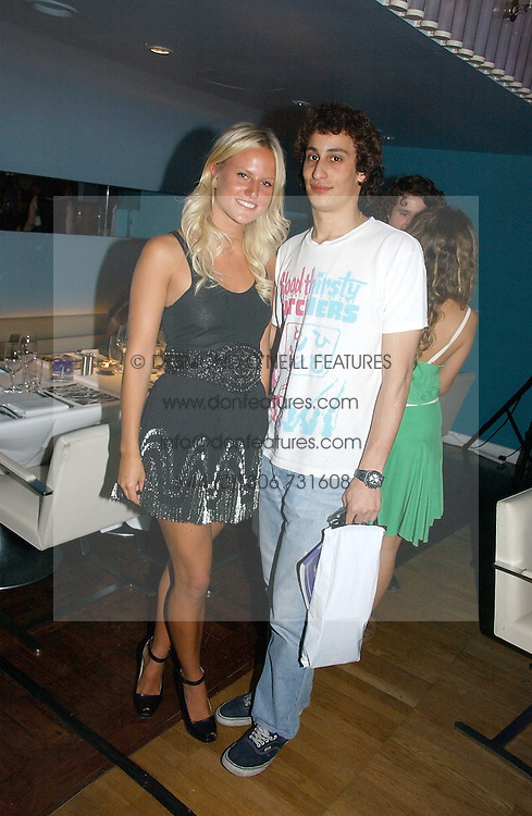 OLYMPIA SCARRY and ALEX DELLAL at a party to celebrate the publication of 'How to Party' by Yasmin Mills with illustrations by Olympia Scarry, held at the Fifth Floor Restaurant, Harvey Nichols, Knightsbridge, London on 3rd July 2006.<br /><br />NON EXCLUSIVE - WORLD RIGHTS
