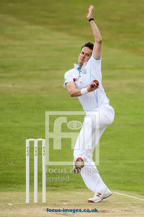 Tony Palladino of Derbyshire in delivery stride during the LV County Championship Div Two match at the County Ground, Northampton<br /> Picture by Andy Kearns/Focus Images Ltd 0781 864 4264<br /> 19/07/2015