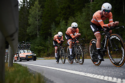 Amalie Dideriksen (DEN) at Ladies Tour of Norway 2018 Team Time Trial, a 24 km team time trial from Aremark to Halden, Norway on August 16, 2018. Photo by Sean Robinson/velofocus.com
