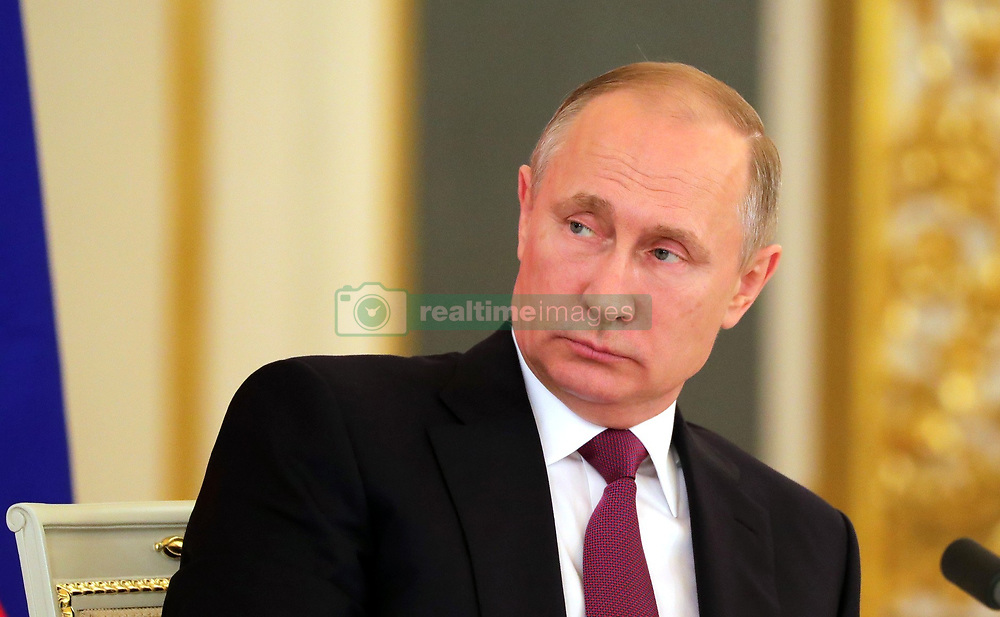 July 4, 2017 - Moscow, Russia - July 4, 2017. - Russia, Moscow. - Russian President Vladimir Putin during a meeting with representatives of public organizations, businesses and media communities. (Credit Image: © Russian Look via ZUMA Wire)