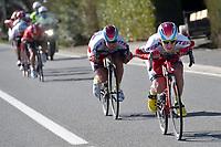 BYSTROM Sven Erik (NOR), KRISTOFF Alexander (NOR) during the 3 Days de Panne 2015, Stage 1, De Panne - Zottegem (201,6Km), in Belgium, on March 31, 2015. Photo Tim de Waele / DPPI