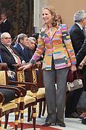 Princess Elena de Borbon attend National Sport Awards 2017 at El Pardo Royal Palace on January 10, 2019 in Madrid, Spain
