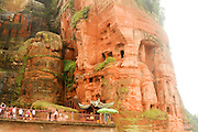 China, Sichuan Province, Leshan, giant, stone carved Dafo, Buddha