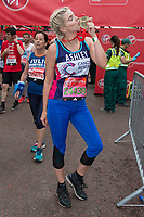 Ashley James (Made In Chelsea star and TV presenter running for Cancer Research UK). The Virgin Money London Marathon, 23rd April 2017.<br /> <br /> Photo: Joanne Davidson for Virgin Money London Marathon<br /> <br /> For further information: media@londonmarathonevents.co.uk
