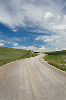 Gravel road near Choteau Montana