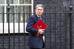 © Licensed to London News Pictures. 10/09/2013. London, UK. The Defence Secretary, Philip Hammond, is seen on Downing Street in London today (10/09/2013) after a meeting of the British Government's cabinet. Photo credit: Matt Cetti-Roberts/LNP