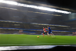 16 December 2017 -  Premier League - Chelsea v Southampton - Nathan Redmond of Southampton in action with Alvaro Morata of Chelsea - Photo: Marc Atkins/Offside