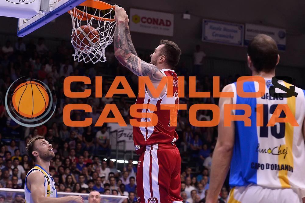 Macvan Milan<br /> Betaland Capo D'Orlando - EA7 Emporio Armani Olimpia Milano<br /> Playoff Gara 4<br /> Lega Basket 2016/2017<br /> Capo D'Orlando 18/05/2017<br /> Foto Ciamillo-Castoria
