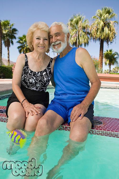 Senior Couple in Swimming Pool