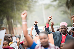 "16 June 2017, Nairobi, Kenya: On 16 June, more than 500 people gathered to commemorate the Day of the African Child in Nairobi, Kenya, and to speak up publicly for the rights of children and adolescents living with HIV. Religious leaders from a range of different faith communities and traditions led a march through the streets of Nairobi, from the All Saints Cathedral to Ufungamano House, accompanied by hundreds of youth and young children from local faith-sponsored schools, after which a ceremony was held where the religious leaders committed publicly to work for children's rights to HIV testing, access to treatment, and freedom from stigma and discrimination, to make sure that those who are in need of treatment are also able to stay on treatment. The day was organized by the World Council of Churches Ecumenical Advocay Alliance together with Inerela+ Kenya, with contributions from a range of other partners. At end of the ceremony, the WCC-EAA launched a global Call to Action entitled ""Act now for children and adolescents living with HIV"", which was signed by the range of religious leaders."