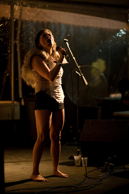 Tanya Tagaq performs at the Beauty Bar during the 2008 SXSW music festival in Austin, TX.