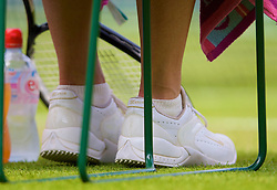 LONDON, ENGLAND - Tuesday, June 24, 2008: The shoes of Maria Sharapova (RUS) during her first round match on day two of the Wimbledon Lawn Tennis Championships at the All England Lawn Tennis and Croquet Club. (Photo by David Rawcliffe/Propaganda)