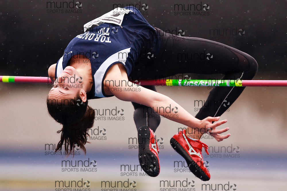 Toronto, Ontario ---28/06/09---  Sarah Boyle competing in  at the Canadian National Track and Field Championships in Toronto, Ontario June 28, 2009..GEOFF ROBINS Mundo Sport Images