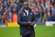 Queens Park Rangers manager Jimmy Floyd Hasselbaink during the EFL Sky Bet Championship match between Fulham and Queens Park Rangers at Craven Cottage, London, England on 1 October 2016. Photo by Jon Bromley.