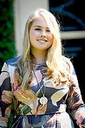 Prinsessen tijdens de Zomerfotosessie 2018 bij de Eikenhorst in Wassenaar<br /> <br /> Summer photo session 2018 at Villa de Eikenhorst in Wassenaar<br /> <br /> Op de foto / On the photo: prinses Amalia / Princess Amalia