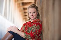Amy Weston Headshot session Smith Bridge Plymouth, NH.  ©2016 Karen Bobotas Photographer