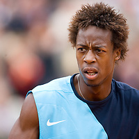 01 June 2007: French player Gael Monfils is seen during the French Tennis Open third round match won by David Nalbandian 7-6, 5-7, 6-4, 7-6, at Roland Garros, in Paris, France.