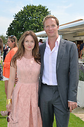 RUPERT PENRY-JONES and DERVLA KIRWAN at the Audi International Polo at Guards Polo Club, Windsor Great Park, Egham, Surrey on 26th July 2014.