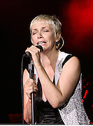 ANNIE LENNOX SINGS FOR A RADIO TWO CONCERT AT LONDONS MERMAID THEATRE TO BE BROADCAST AT 8PM ON THE 25TH AUGUST 2007.PIX STEVE BUTLER