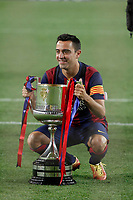 Barcelona´s Xavi Hernandez celebrate after winning the 2014-15 Copa del Rey final match against Athletic de Bilbao at Camp Nou stadium in Barcelona, Spain. May 30, 2015. (ALTERPHOTOS/Victor Blanco)