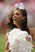Alabama Crimson Tide Cheerleader performs during a 24 to13 Tide win over the Arkansas Razorbacks on September 24, 2005 at Bryant-Denny Stadium in Tuscaloosa, Alabama..Mandatory Credit: Wesley Hitt/Icon SMI