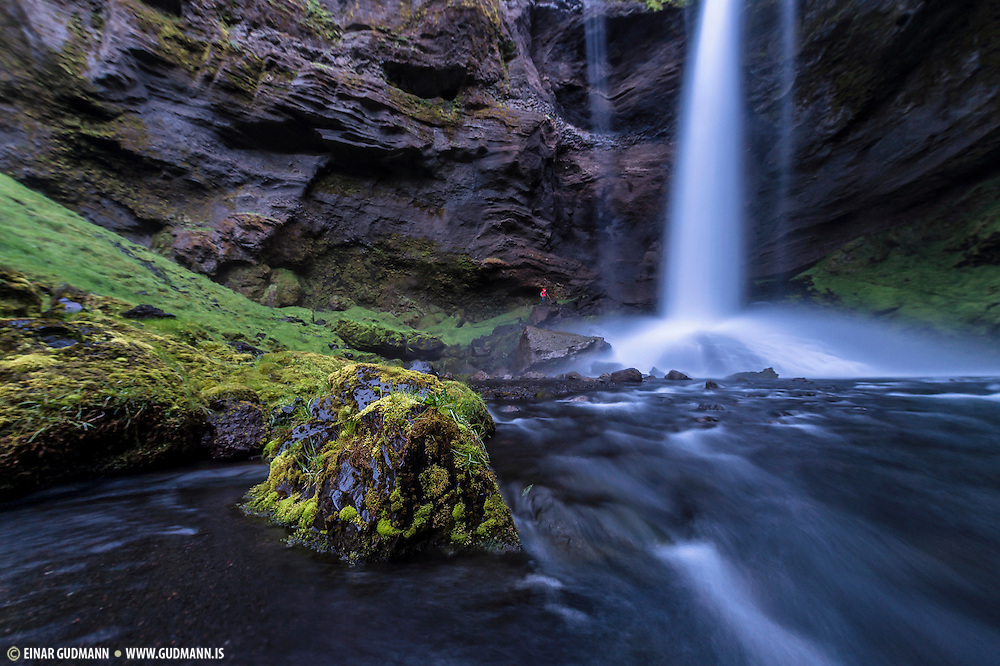 Kvernufoss is a beautiful waterfall near Skogafoss.