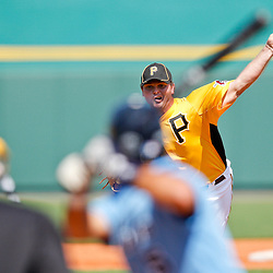 February 25, 2011; Bradenton, FL, USA; Pittsburgh Pirates pitcher Justin Wilson (74) pitches during a spring training exhibition game against the State College of Florida Manatees at McKechnie Field. The Pirates defeated the Manatees 21-1. Mandatory Credit: Derick E. Hingle-US PRESSWIRE