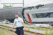 King Philippe after the train crash in Belgium