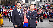 *** MANDATORY BYLINE TO READ: Syco / Thames / Dymond ***<br /> Ant and Dec are seen in promotional photos for the season opener of Britain's Got Talent 2017. The show starts this Saturday April 15th on ITV.<br /> <br /> Pictures shot March 7th 2017 in Trafalgar Square, London.<br /> <br /> Pictured: Ant and Dec are seen in promotional photos for the season opener of Britain's Got Talent 2017. The show starts this Saturday April 15th on ITV.<br /> <br /> Pictures shot May 7th 2017 in Trafalgar Square, London.<br /> Ref: SPL1477082  070317  <br /> Picture by: Syco / Thames / Dymond